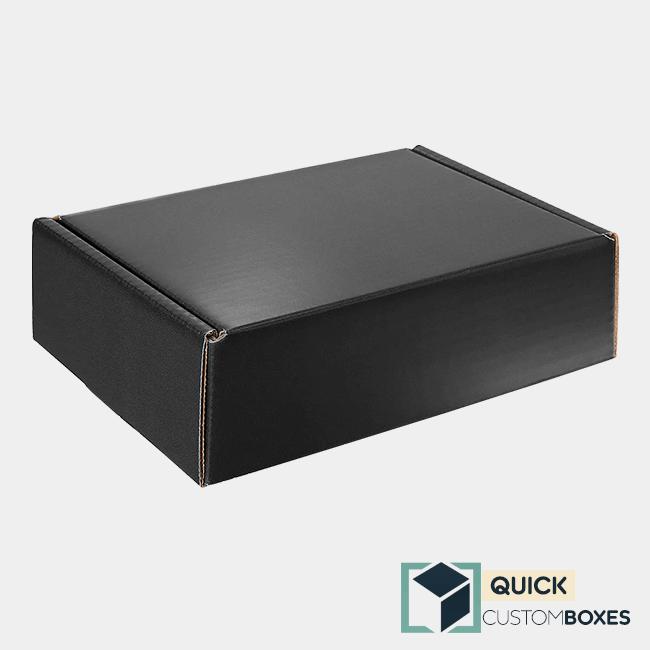 Solid Black Color Printed Mailer Box